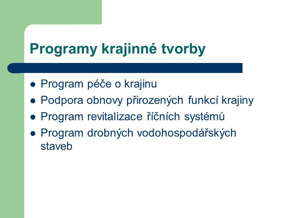 Programy krajinné tvorby