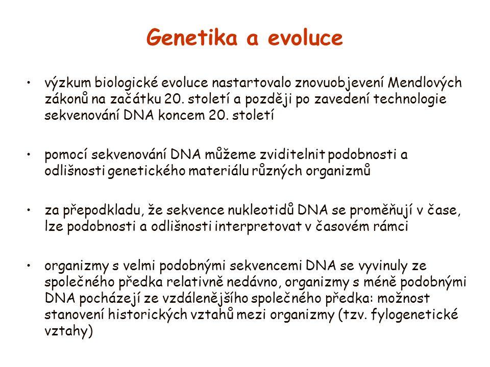 Genetika a evoluce