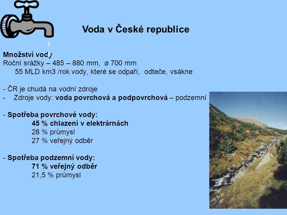 Voda v České republice Množství vody