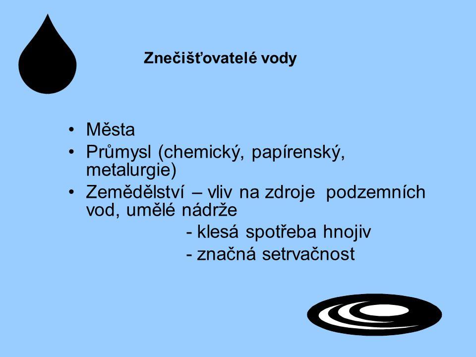 Průmysl (chemický, papírenský, metalurgie)