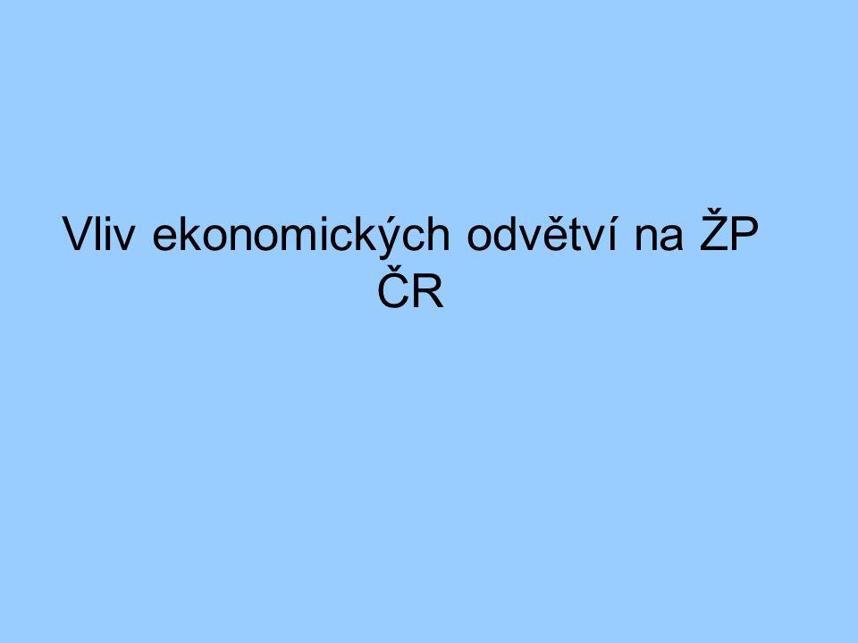 Vliv ekonomických odvětví na ŽP ČR