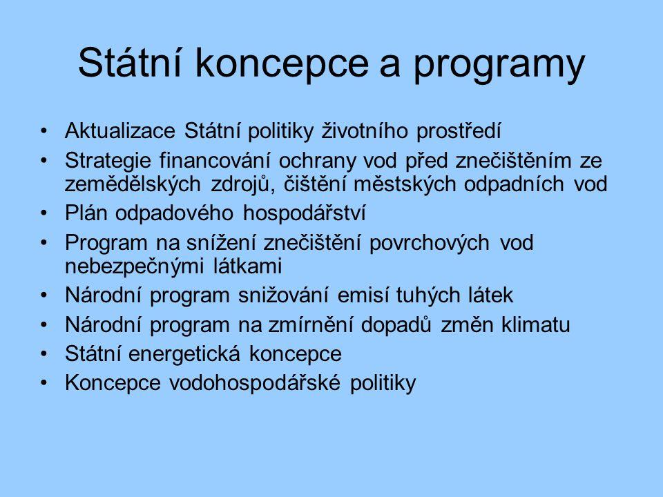 Státní koncepce a programy