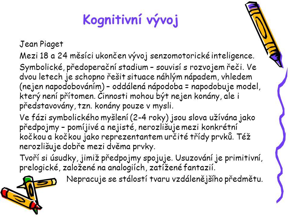 Kognitivní vývoj Jean Piaget