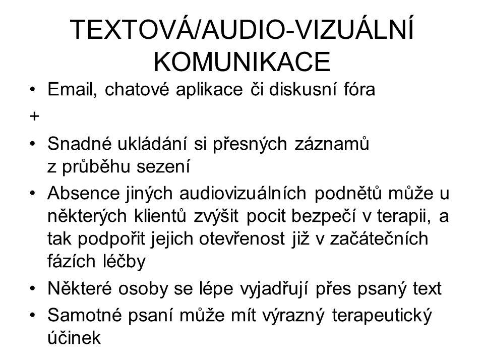 TEXTOVÁ/AUDIO-VIZUÁLNÍ KOMUNIKACE