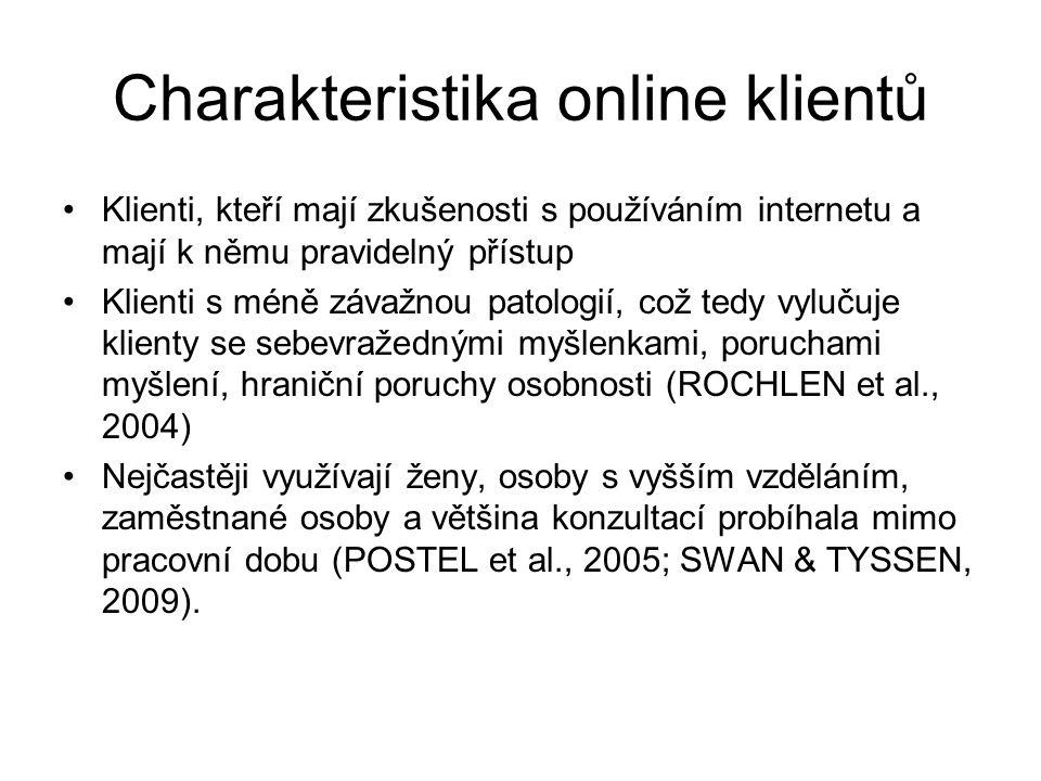 Charakteristika online klientů