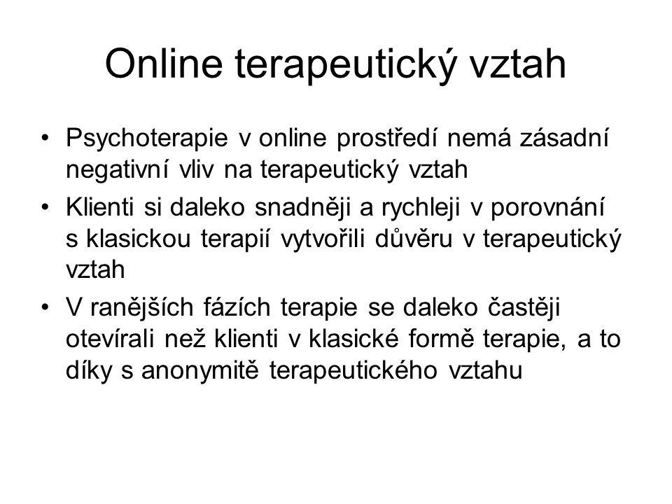 Online terapeutický vztah