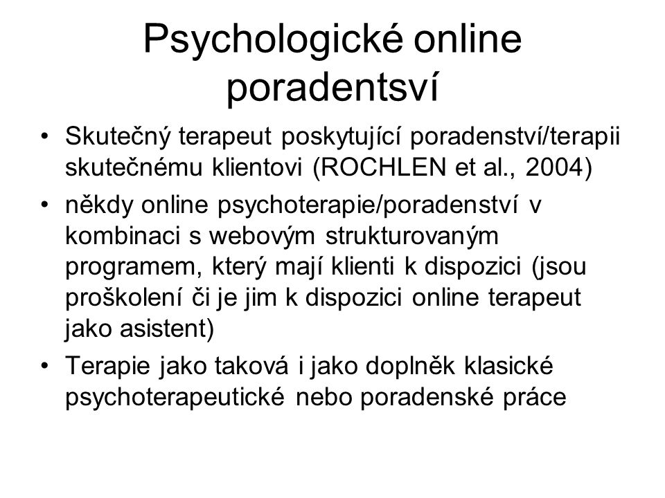 Psychologické online poradentsví