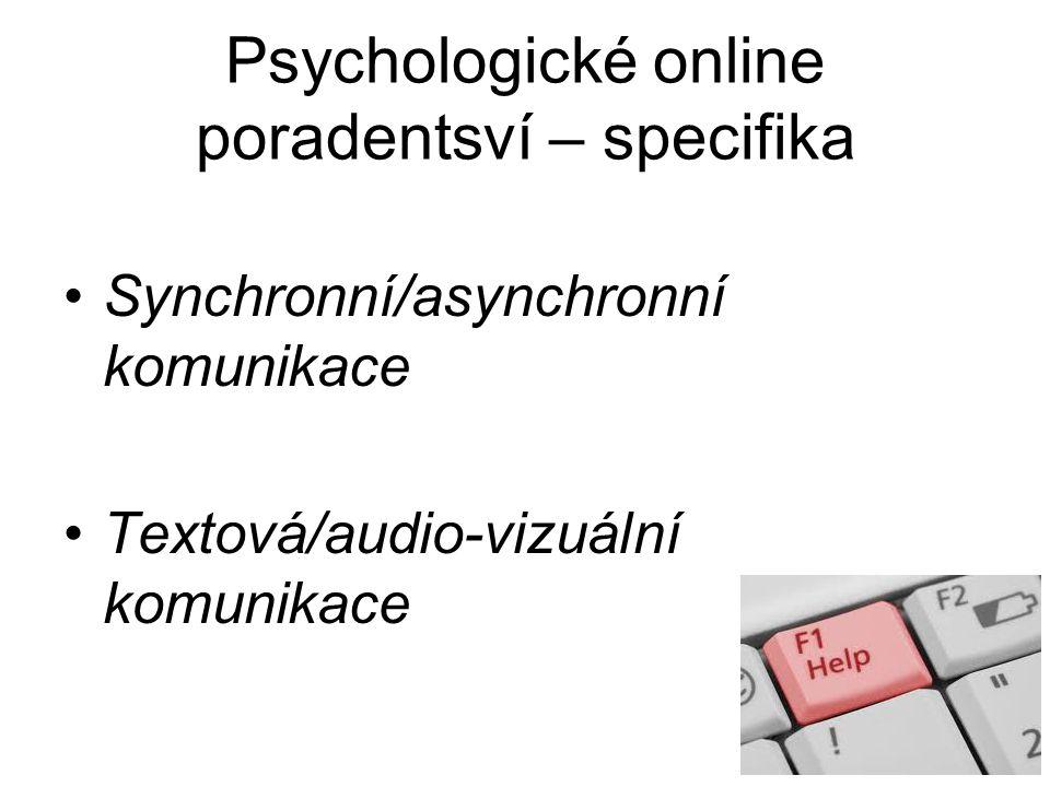 Psychologické online poradentsví – specifika
