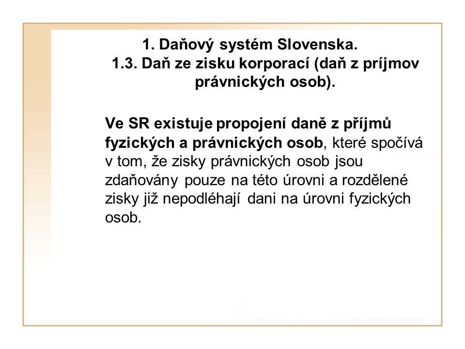 1. Daňový systém Slovenska. 1. 3