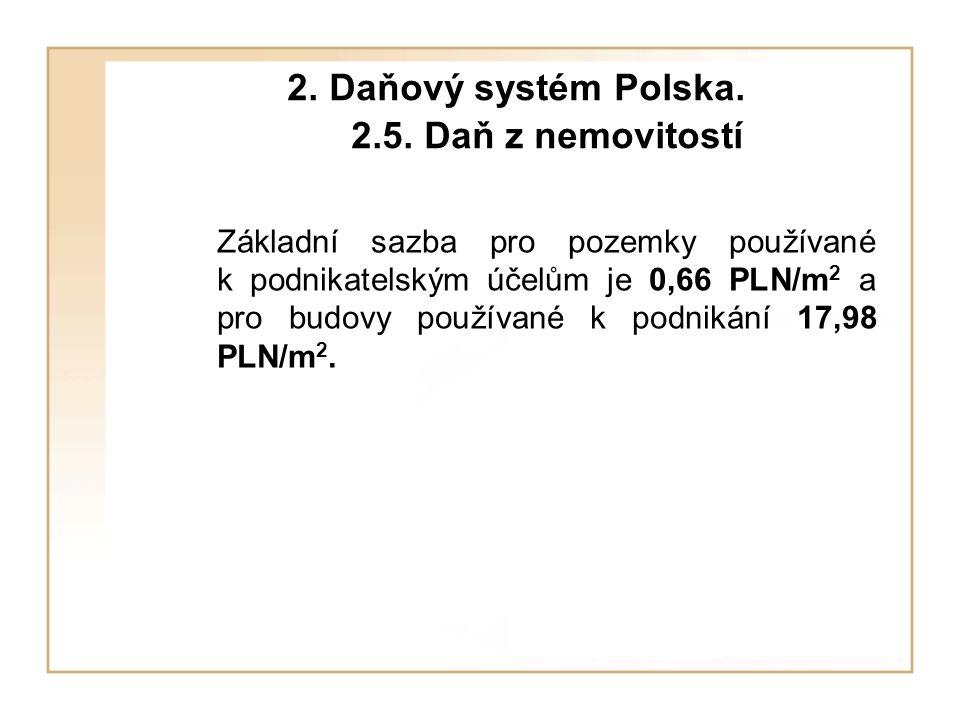 2. Daňový systém Polska. 2.5. Daň z nemovitostí