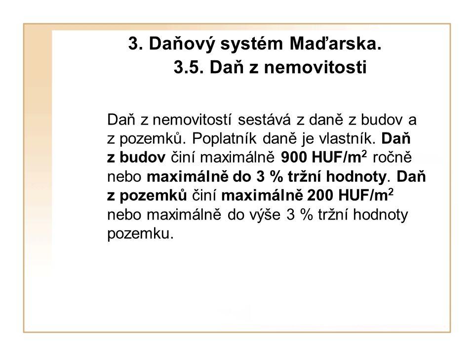 3. Daňový systém Maďarska. 3.5. Daň z nemovitosti