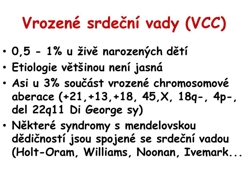 Vrozené srdeční vady (VCC)