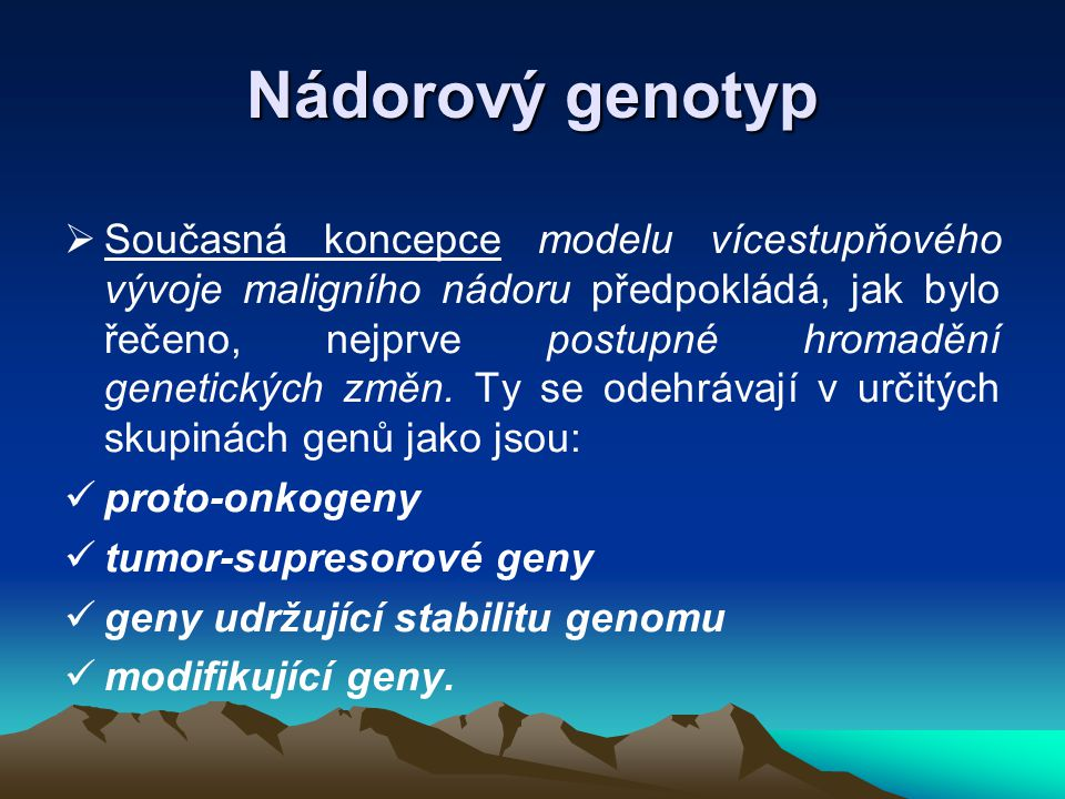Nádorový genotyp