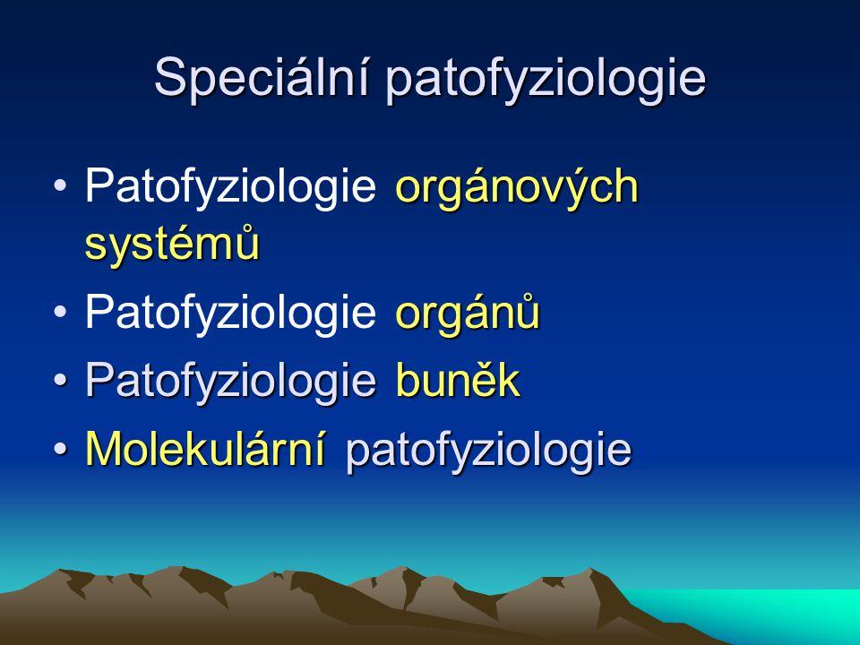 Speciální patofyziologie