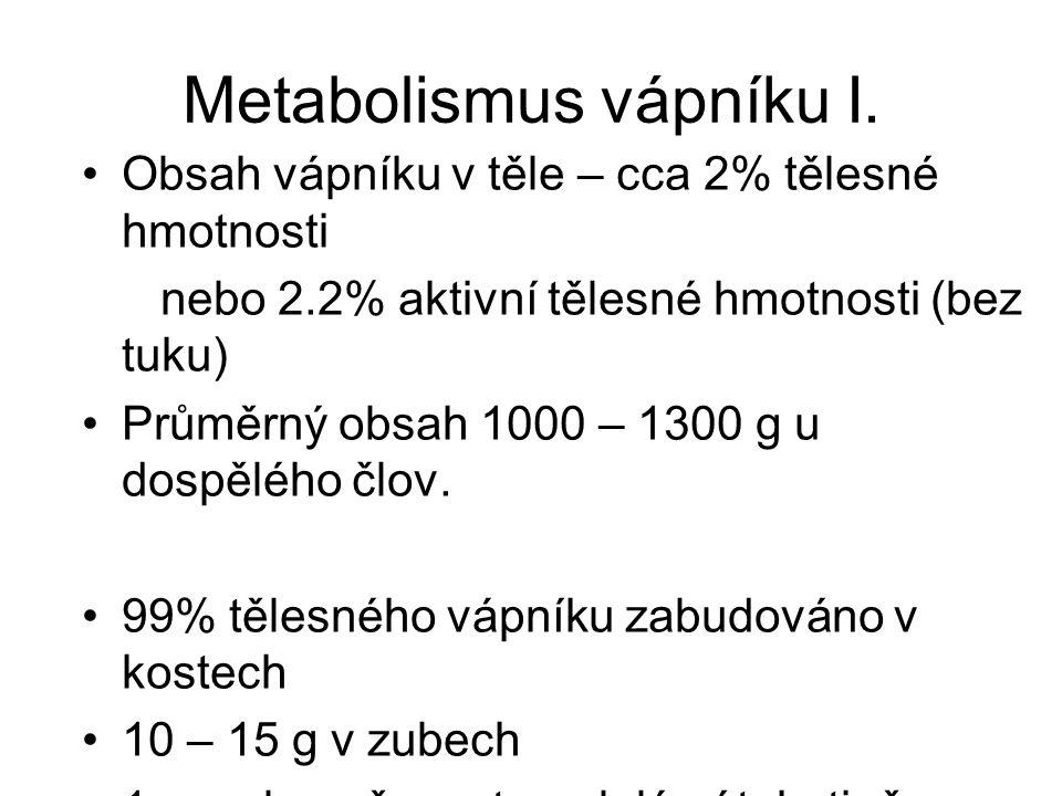 Metabolismus vápníku I.