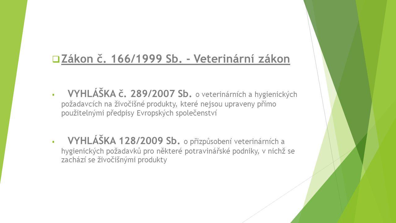 Zákon č. 166/1999 Sb. - Veterinární zákon