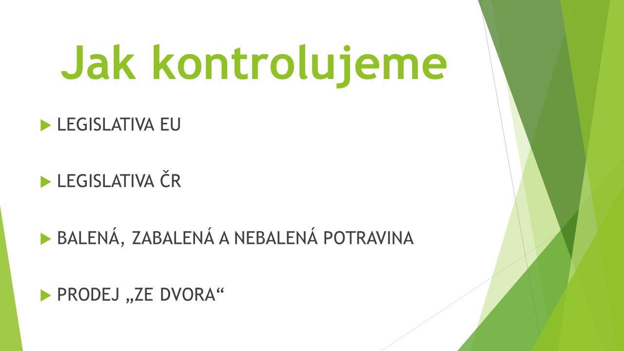 Jak kontrolujeme LEGISLATIVA EU LEGISLATIVA ČR