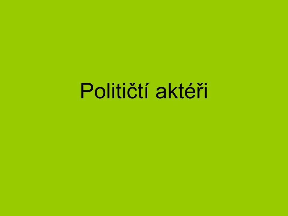 Političtí aktéři