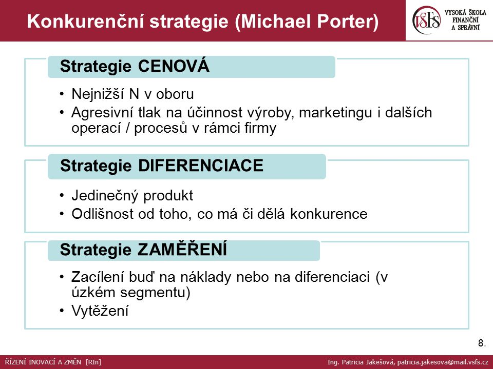Konkurenční strategie (Michael Porter)