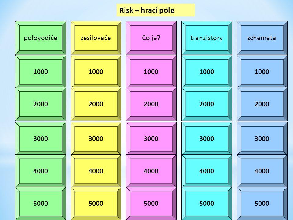 Risk – hrací pole polovodiče zesilovače Co je tranzistory schémata