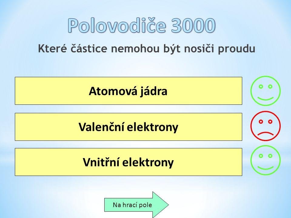 Které částice nemohou být nosiči proudu