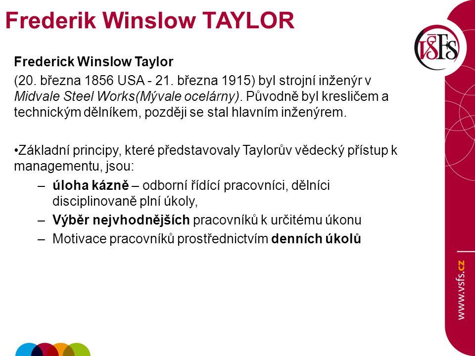 Frederik Winslow TAYLOR