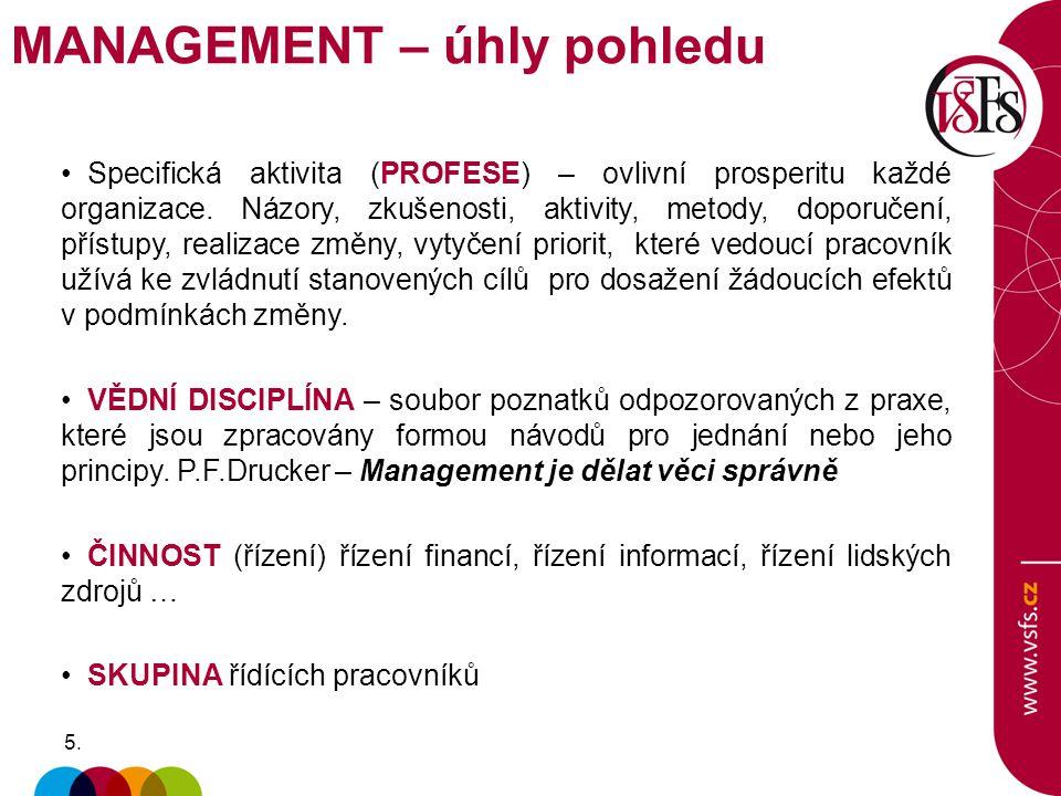 MANAGEMENT – úhly pohledu