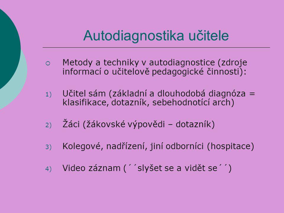 Autodiagnostika učitele