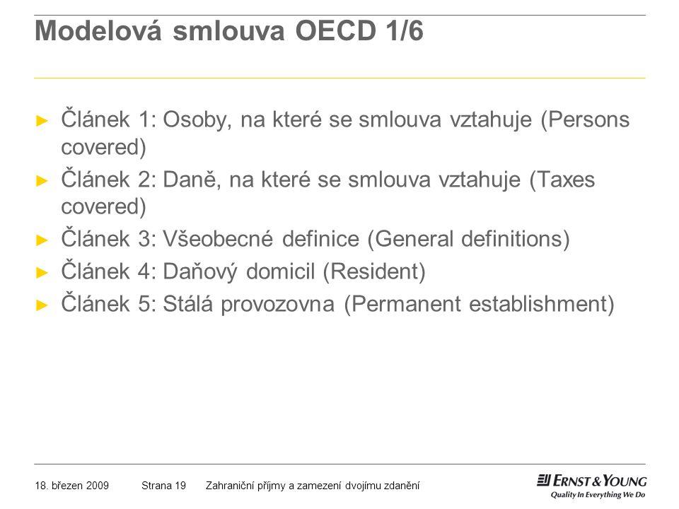 Modelová smlouva OECD 1/6