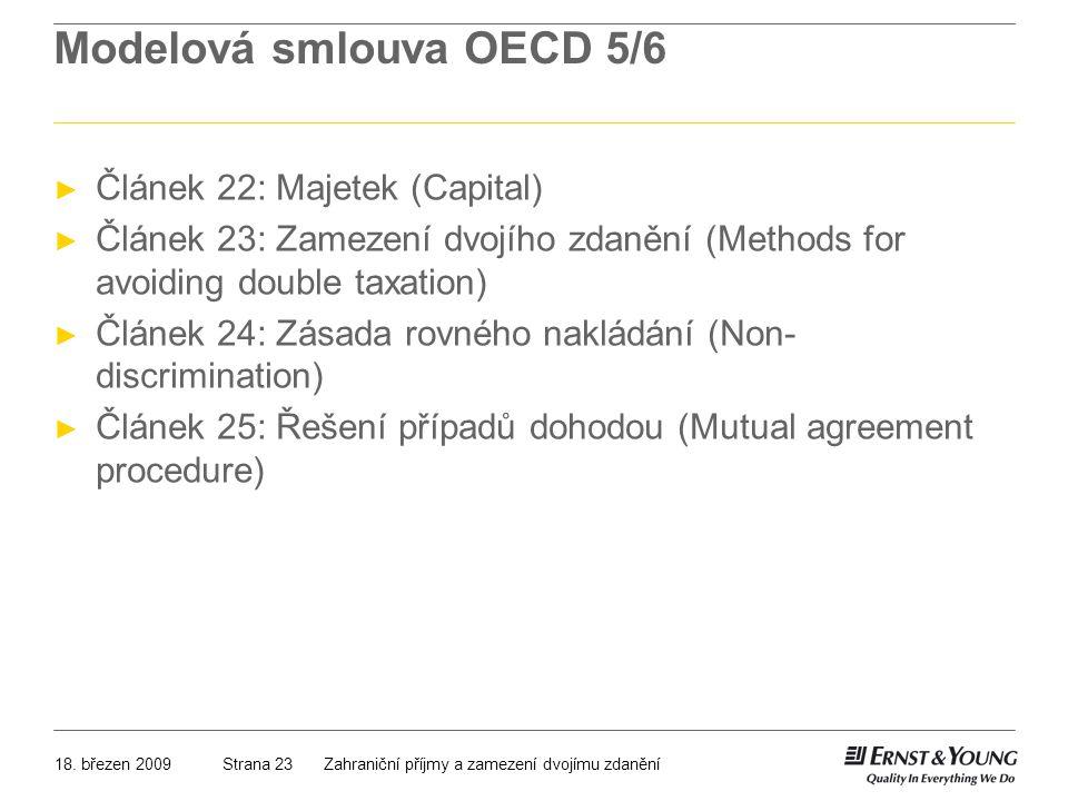 Modelová smlouva OECD 5/6