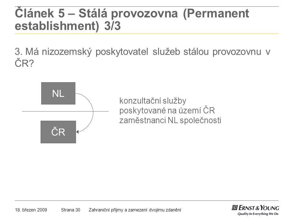 Článek 5 – Stálá provozovna (Permanent establishment) 3/3
