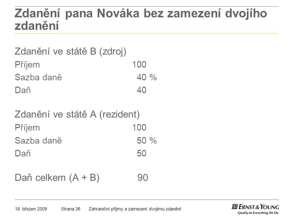 Zdanění pana Nováka bez zamezení dvojího zdanění