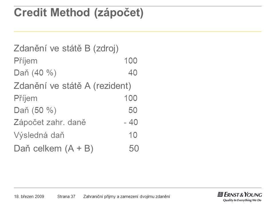 Credit Method (zápočet)