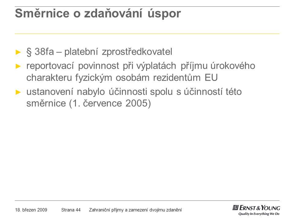 Směrnice o zdaňování úspor
