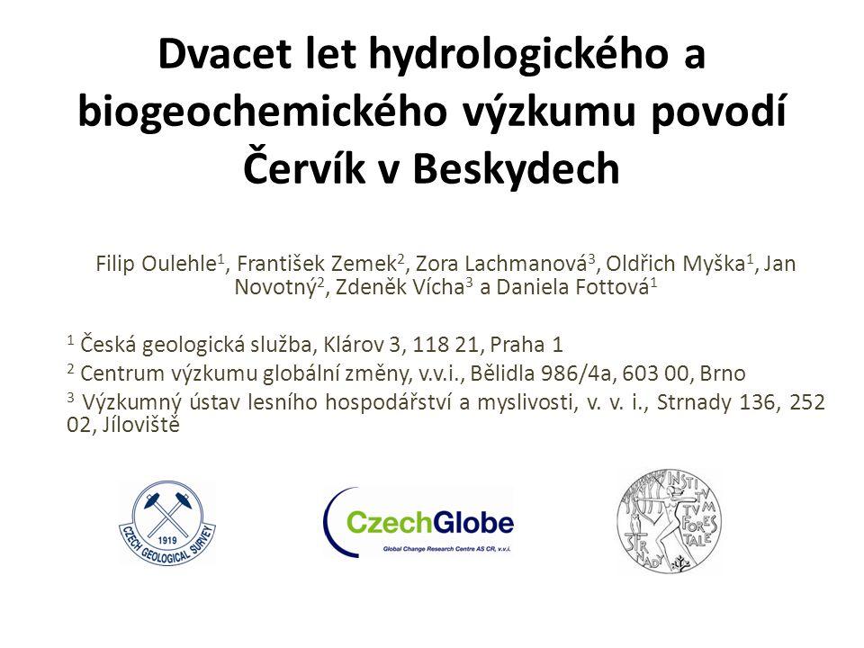 Dvacet let hydrologického a biogeochemického výzkumu povodí Červík v Beskydech