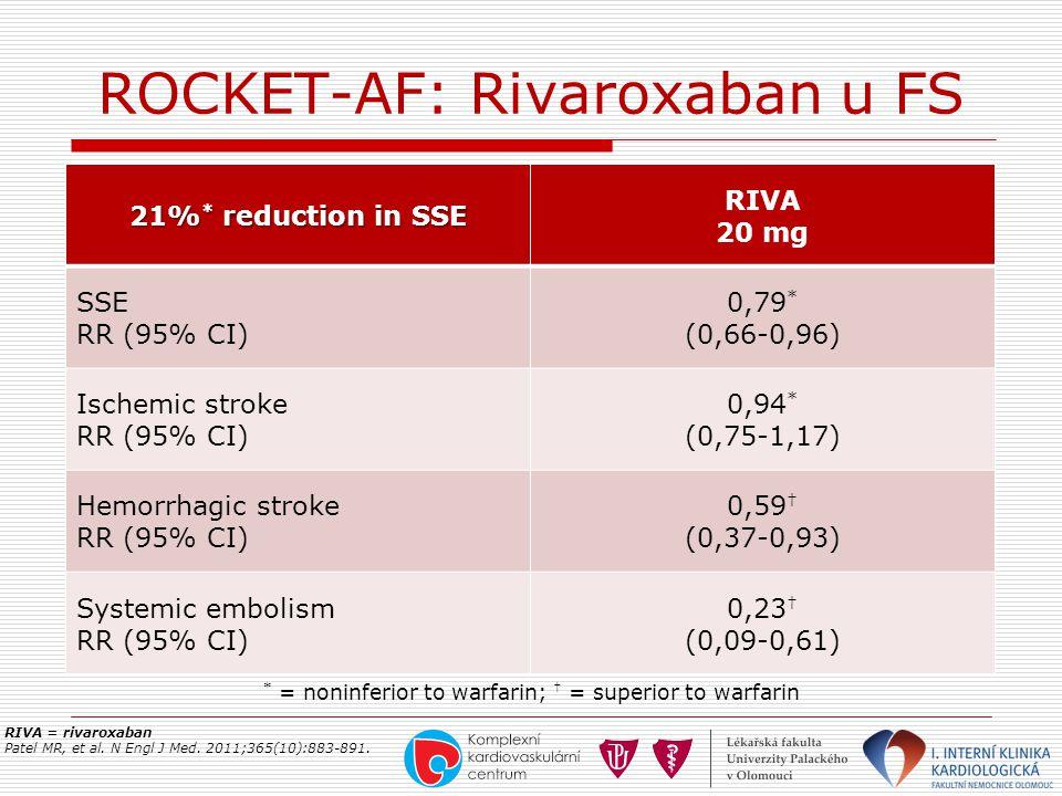 ROCKET-AF: Rivaroxaban u FS