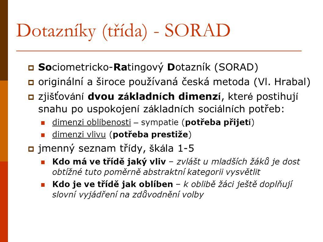 Dotazníky (třída) - SORAD