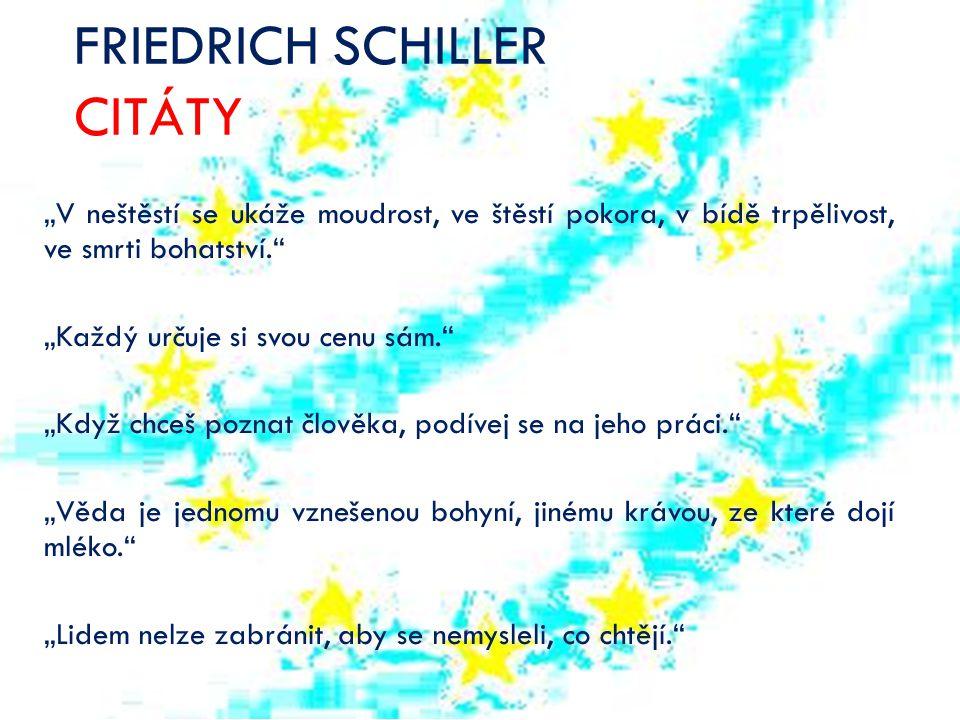 FRIEDRICH SCHILLER CITÁTY