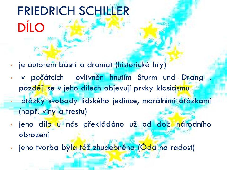 FRIEDRICH SCHILLER DÍLO