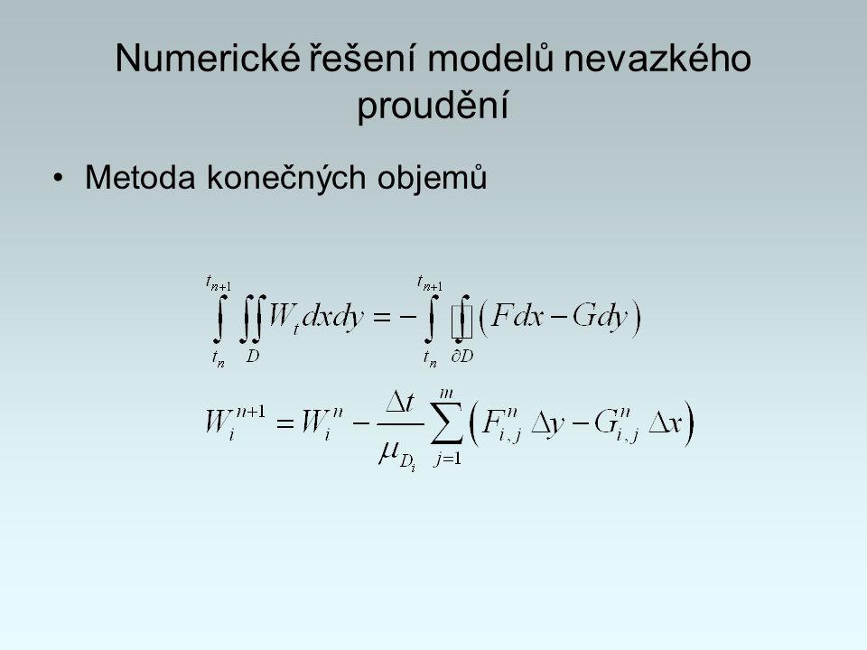 Numerické řešení modelů nevazkého proudění