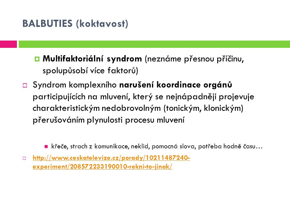 BALBUTIES (koktavost)