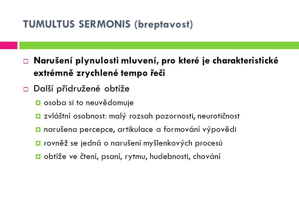 TUMULTUS SERMONIS (breptavost)