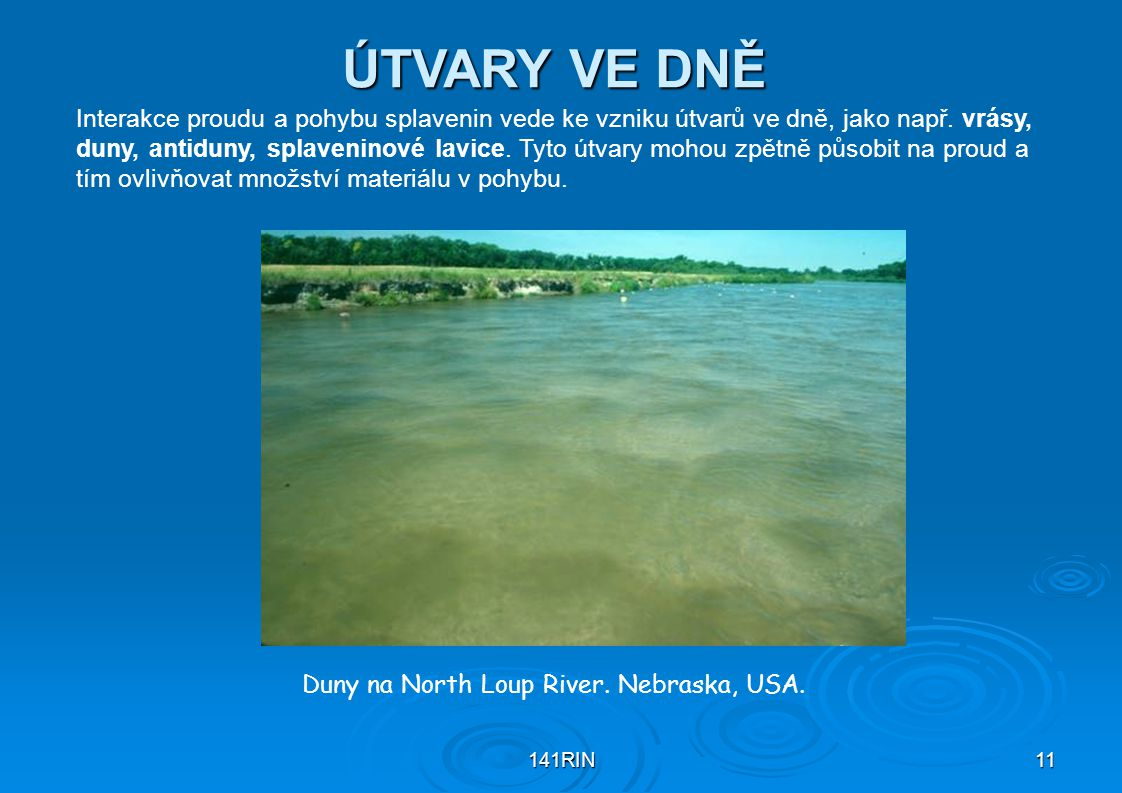 Duny na North Loup River. Nebraska, USA.
