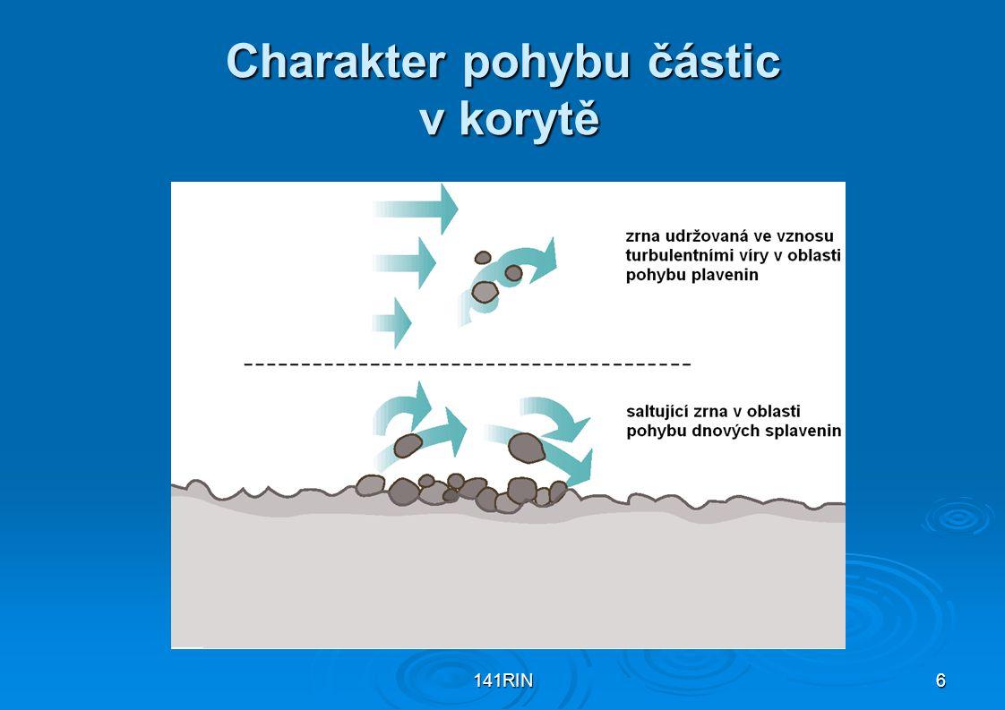 Charakter pohybu částic v korytě
