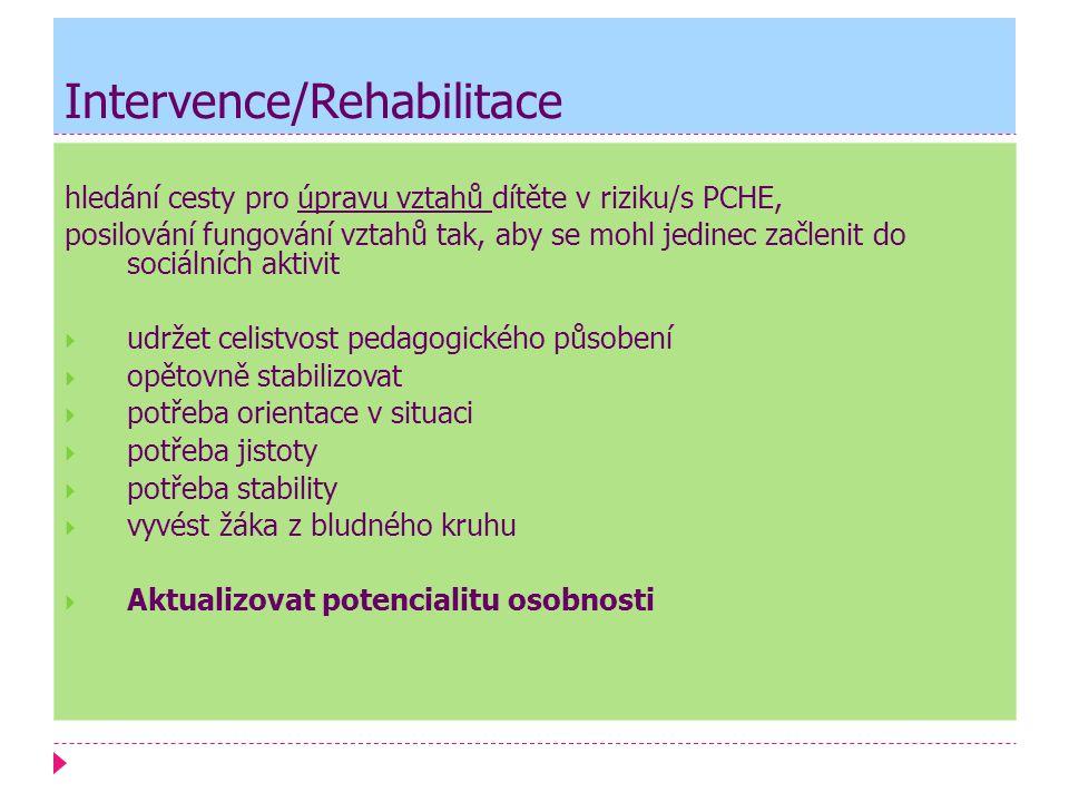 Intervence/Rehabilitace