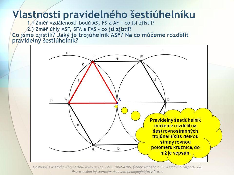 Vlastnosti pravidelného šestiúhelníku