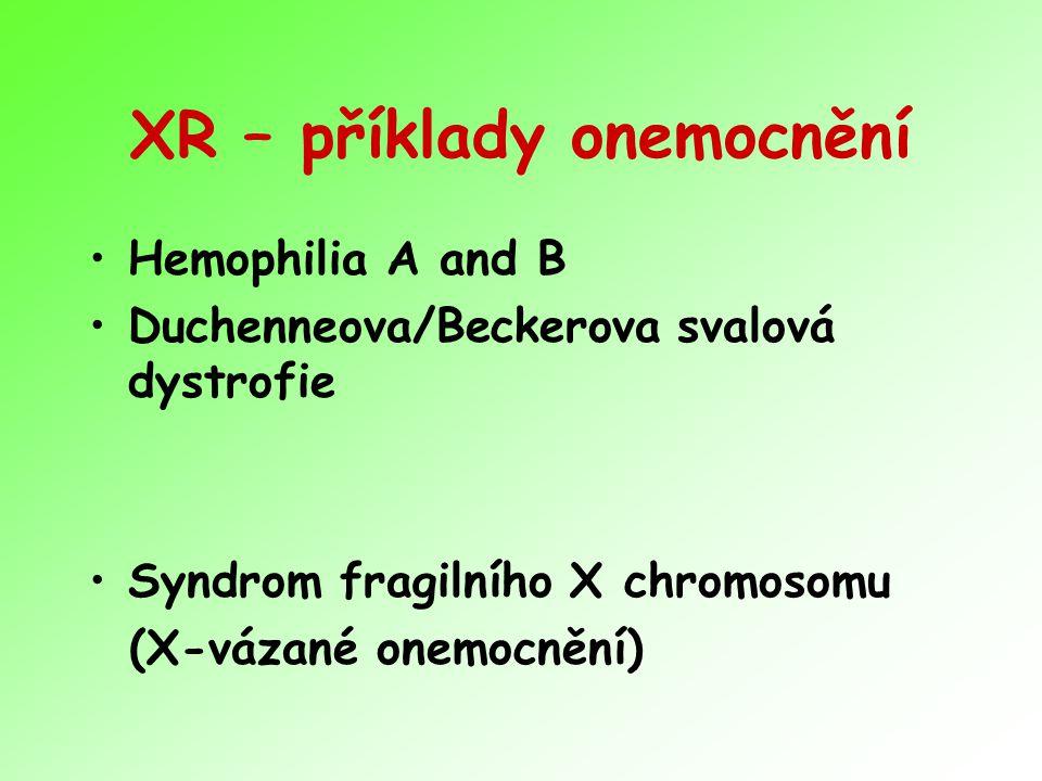XR – příklady onemocnění