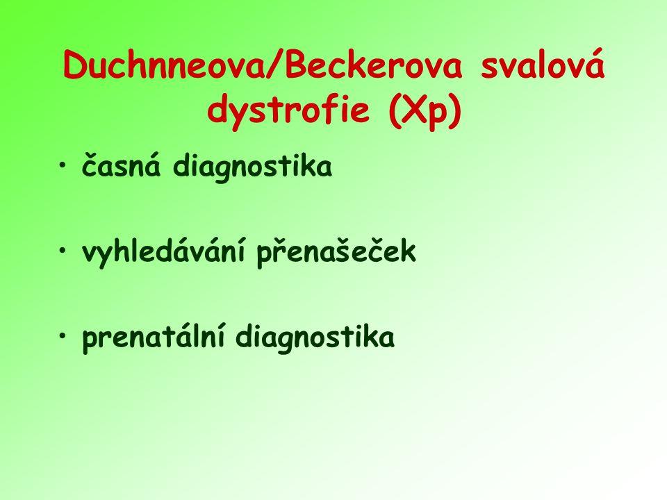 Duchnneova/Beckerova svalová dystrofie (Xp)