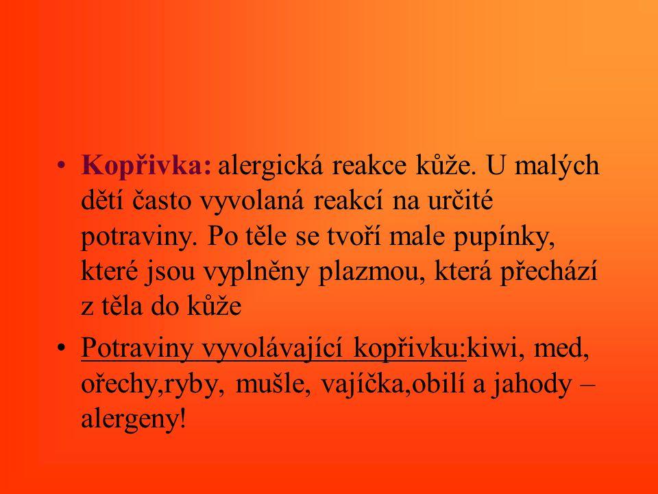 Kopřivka: alergická reakce kůže