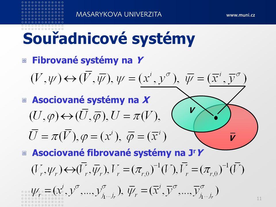 Souřadnicové systémy Fibrované systémy na Y Asociované systémy na X